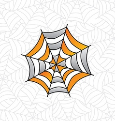 Colorful spider web art vector