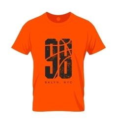 Numbered t-shirt emblem mock-up vector image