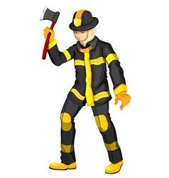 A fireman vector image