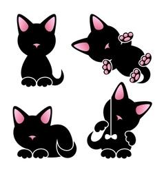 Abstract cute kitten set vector