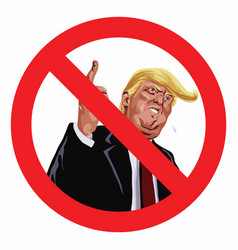 Anti trump sign icon vector
