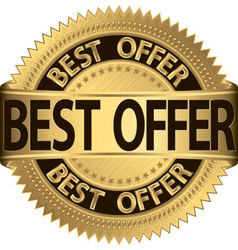 Best offer golden label vector image vector image