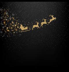 black winter background vector image vector image