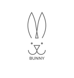 bunny logo design simple line vector image
