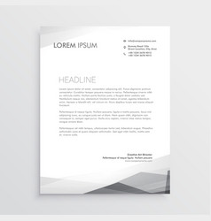 business letterhead design template in gray shade vector image vector image