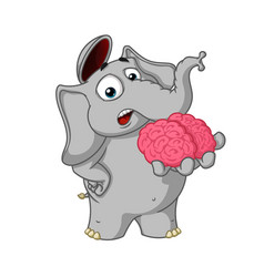 cartoon brain in hand gives your mind vector image