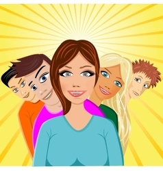 Cheerful young people vector