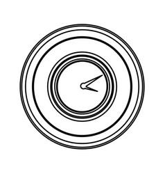 Contour emblem clock icon vector