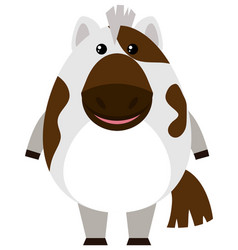 Cute horse on white background vector