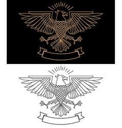 Eagle in line style vector
