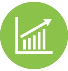 Escalating bar graph vector
