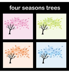 four seasons trees vector image vector image
