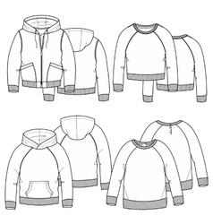 Girls hoodies vector image vector image