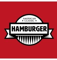 Hamburger - American Classic vintage stamp vector image