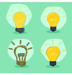Idea Lamp Green Background vector image
