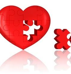 Jigsaw heart vector