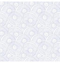 Line art seashells abtract seamless pattern vector