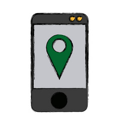Mobile gps navigation location pin concept vector