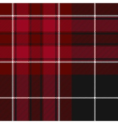 Pride of wales fabric texture red and black tartan vector