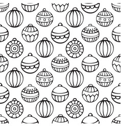 seamless pattern of christmas baubles vector image vector image
