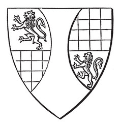 Shield of ralph de arundel municipal reform act vector