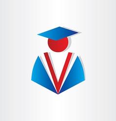 student graduate university symbol vector image