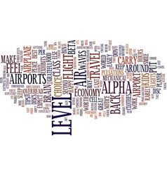 ten tips for air travel in text background word vector image vector image