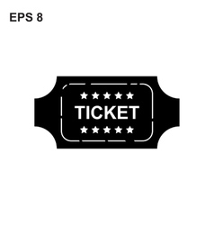 Ticket icon on white background vector