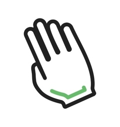Tilted Hand vector image