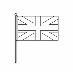 UK flag icon outline style vector image vector image