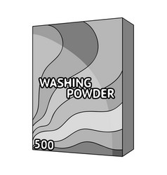 Washing powder dry cleaning single icon in vector