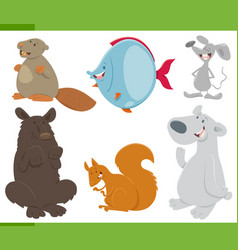 Wild animals collection vector