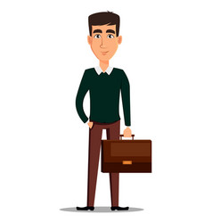 young handsome smiling businessman in smart vector image