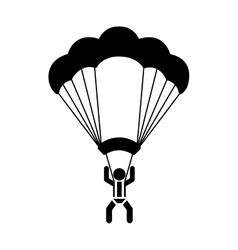 Skydiving extreme sport icon vector