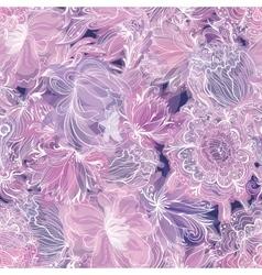 Purple Soft Floral Pattern vector image