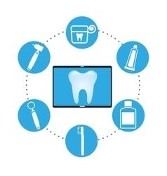 dental healthcare online icon vector image