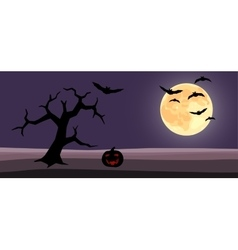 Halloween background cartoon vector