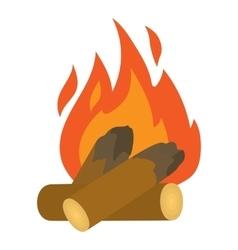 Campfire icon cartoon style vector image