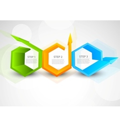 Background with hexagons and arrows vector image