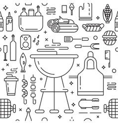 Barbeque party seamless pattern vector image