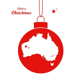 Australia merry christmas map white vector