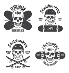 Skateboard emblems 2 vector