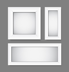 Simple empty white frames vector