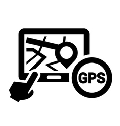 Black gps icon vector