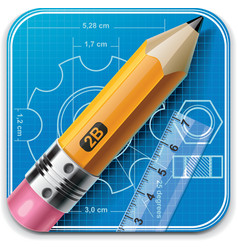 Technical drawing xxl icon vector
