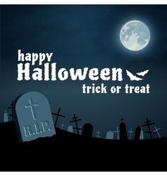 Halloween background cemetery night vector