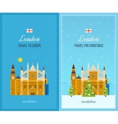 London united kingdom icons travel concept vector