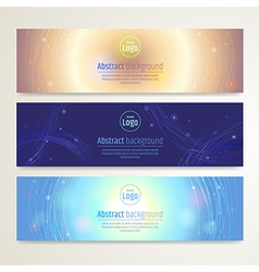 Banner abstract background vector