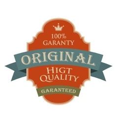 Original quality vintage design banner vector image