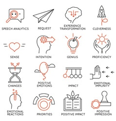 Set of icons related to business management - 23 vector